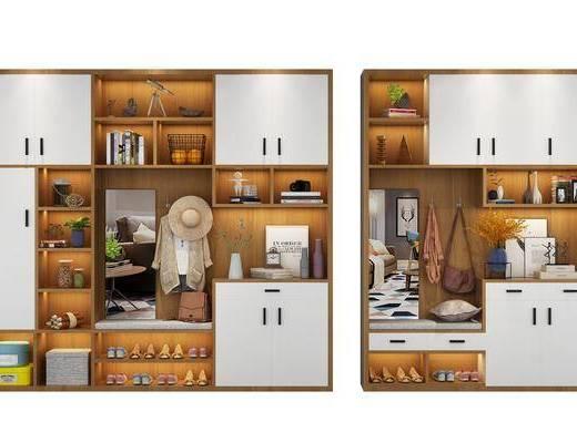鞋柜, 装饰柜, 摆件, 装饰品, 陈设品, 现代