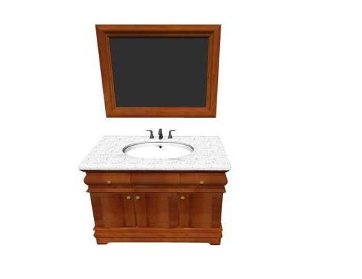 洗手盆, 柜架组合, 壁镜