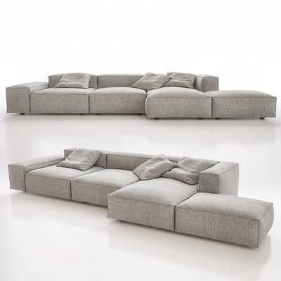 现代布艺转角沙发, 现代, 沙发, 布艺沙发