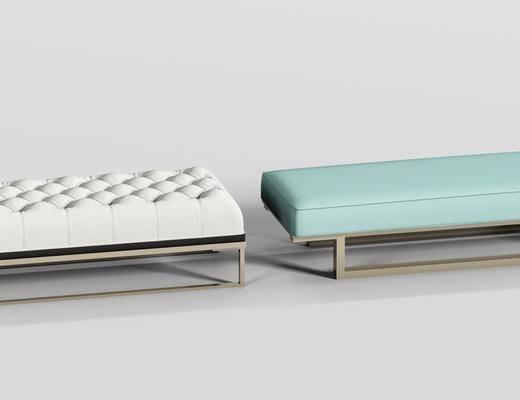 現代床尾凳