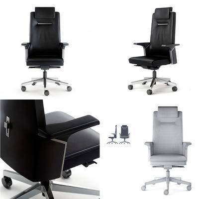 皮革, 办公椅, 现代皮革办公椅, 现代, 椅子