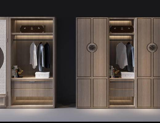 衣柜, 衣帽柜, 衣架, 中式, 衣帽架