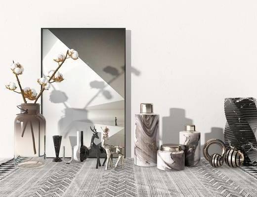 装饰品, 摆件组合, 花瓶, 装饰画