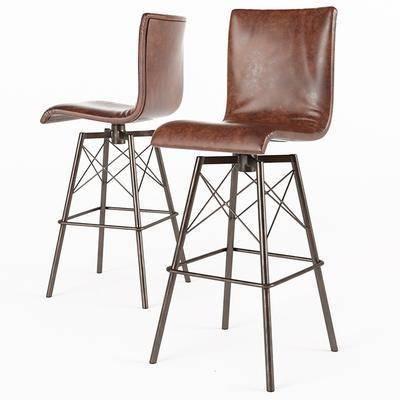 现代休闲单椅吧椅, 吧台椅, 椅子, 休闲椅, 现代