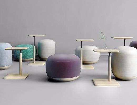 茶幾組合, 沙發腳踏, 茶幾, 沙發凳, 現代