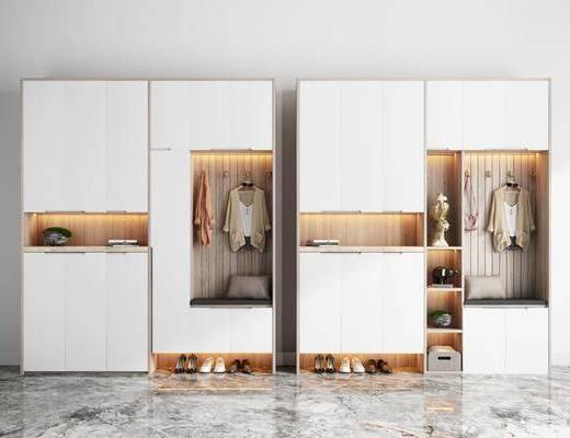 鞋柜, 柜架组合, 衣架, 衣柜