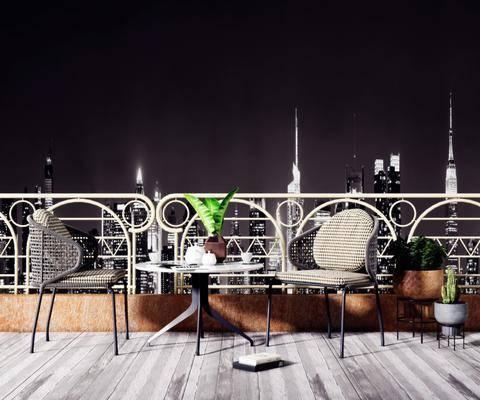 桌椅组合, 茶几, 摆件组合