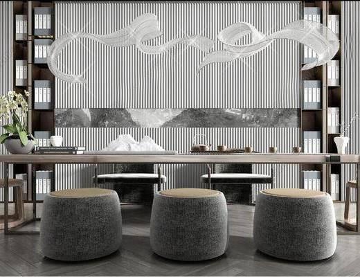 新中式, 茶座椅, 组合