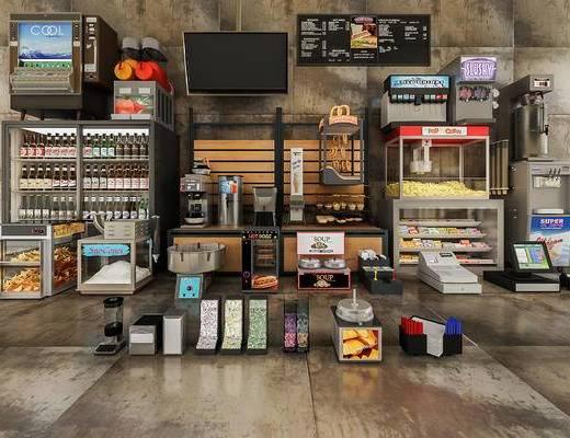 电器, 货架, 货柜, 售货架