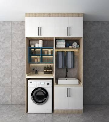 洗衣机, 装饰柜, 摆件, 装饰品, 陈设品, 现代