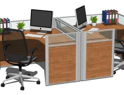 现代职员办公桌椅, 工位