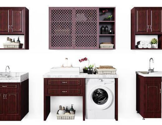 浴室柜, 洗衣机组合, 洗手台组合, 橱柜组合, 卫浴组合, 新中式