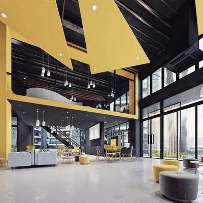 現代健身室, 現代弓箭館, 現代吧臺, 沙發組合, 門頭