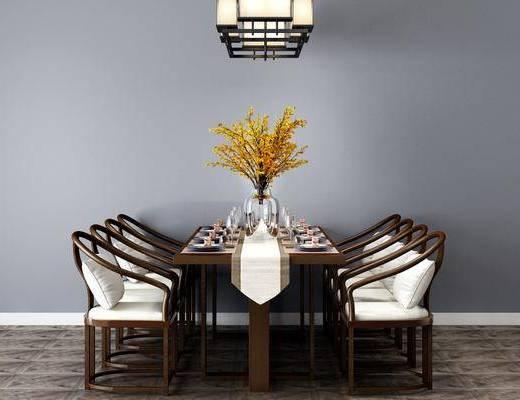 现代餐桌椅, 桌椅组合
