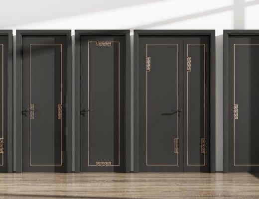 平开门, 新中式门, 房门