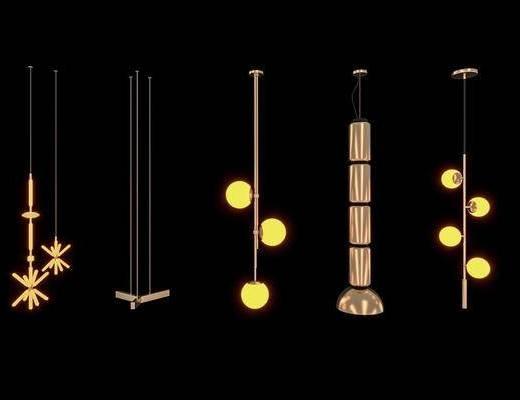 现代, 吊灯, 灯具, 轻奢