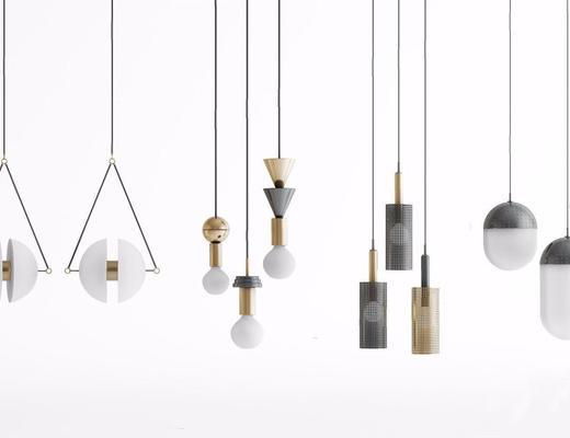 现代简约, 台灯组合, 现代台灯