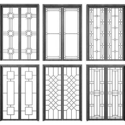 新中式, 玻璃移门, 门窗