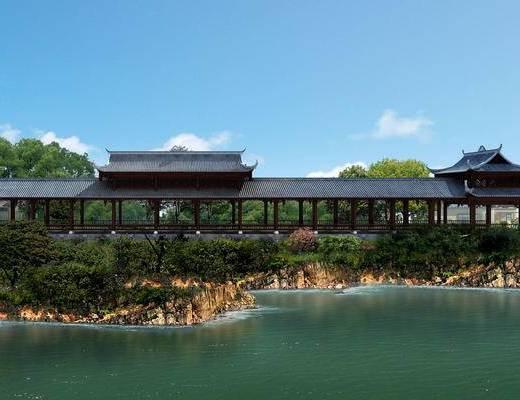 中式, 古建, 长廊