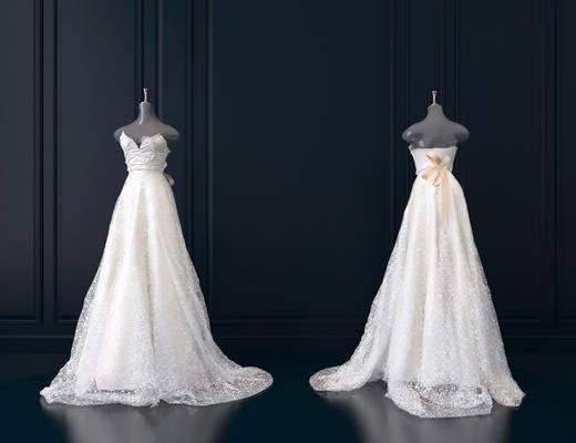服饰, 婚纱, 模特, 现代, 双十一