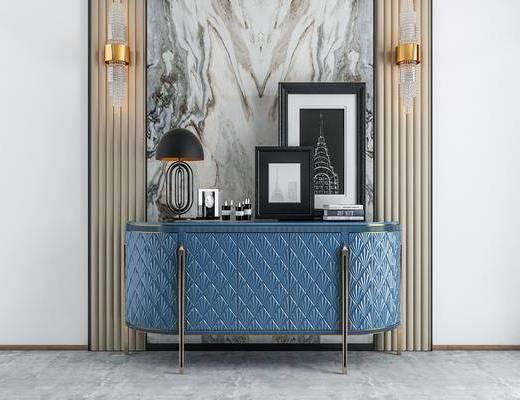 端景台, 装饰柜, 柜架组合