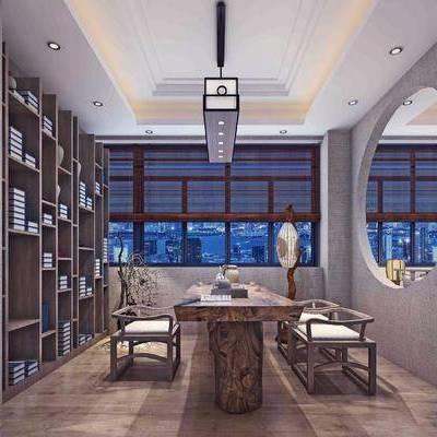茶室, 茶馆, 新中式, 中式, 茶桌, 茶具