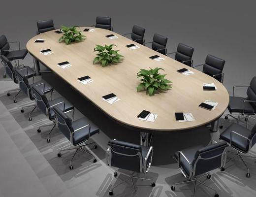 会议桌椅组合, 桌椅组合, 现代