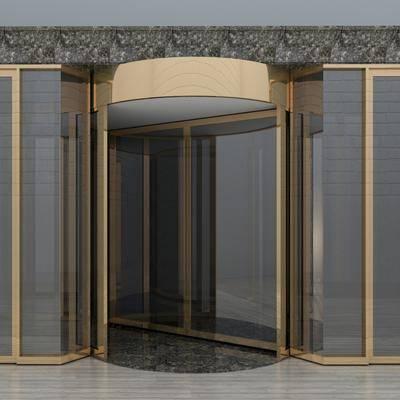 旋转门, 酒店门, 金属门, 现代