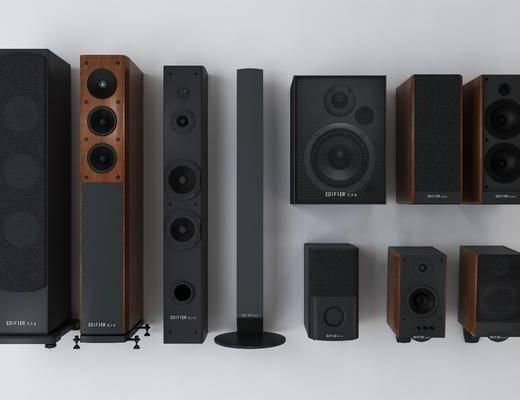 立式音箱, 低音炮, 扬声器