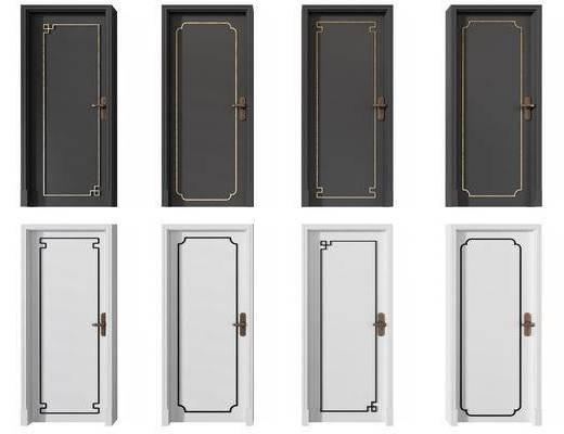 新中式平开门, 平开门, 房门