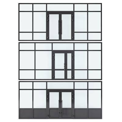 门窗, 窗, 钛合金窗, 双开门, 现代