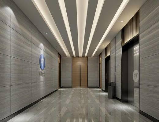 电梯间, 电梯间过道