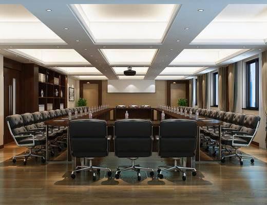 会议室, 会议厅, 中式, 新中式