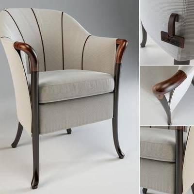 沙发椅, 单人椅, 布艺沙发, 现代