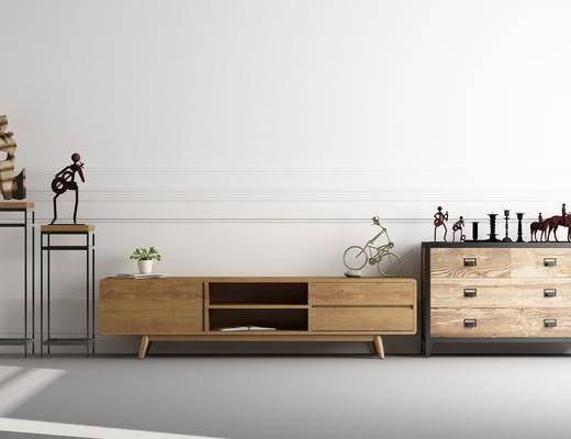 装饰柜, 边柜, 电视柜, 装饰架, 装饰品, 陈设品, 北欧