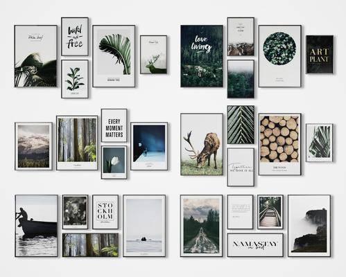 装饰画, 挂画, 动物画, 组合画, 照片墙, 现代