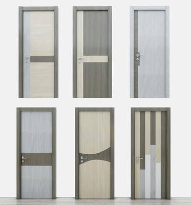 单开门, 拼接门, 平开门, 木质门, 现代简约