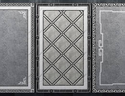 瓷砖拼花, 拼花模型, 新中式