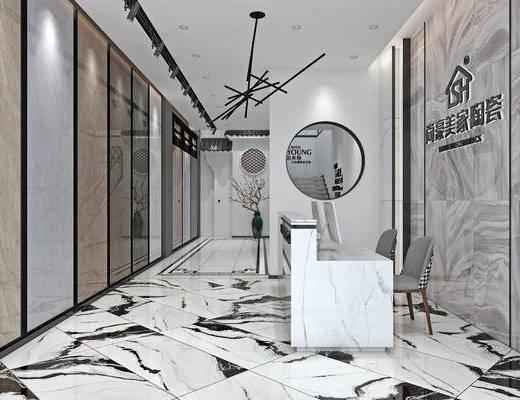 展厅, 前台, 现代展厅, 陶瓷展厅, 专卖店