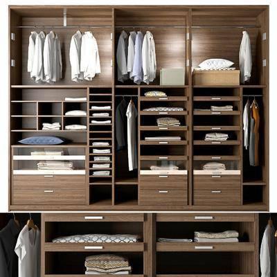 衣柜, 服饰, 装饰柜, 衣架, 现代