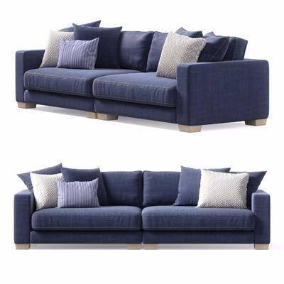 双人沙发, 多人沙发, 布艺沙发, 现代