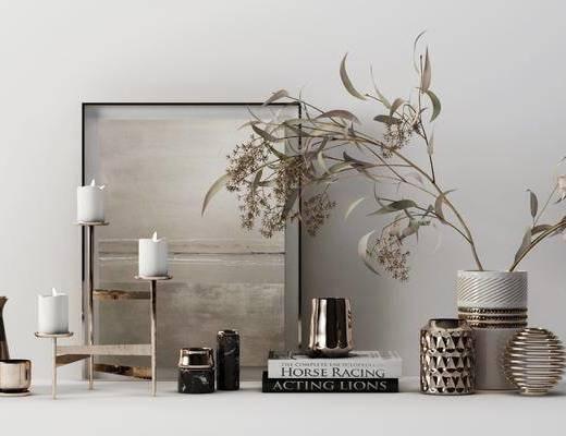 花瓶, 植物, 摆件组合, 装饰品