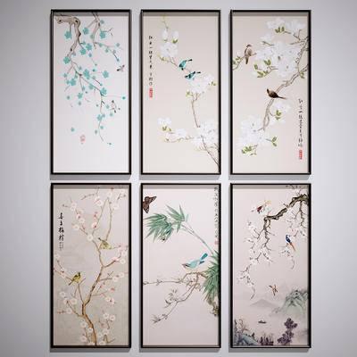 中式装饰挂画, 中式山水画