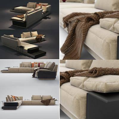 现代布艺沙发, 现代, 布艺沙发, 沙发