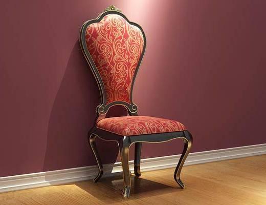 椅子, 单体, 古典, 单椅, 欧式椅子