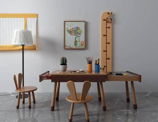 北欧, 书桌, 书椅