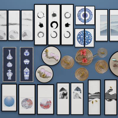 装饰画, 画, 挂画, 中式画, 中式, 下得乐3888套模型合辑