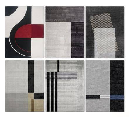 现代, 地毯, 毛毯