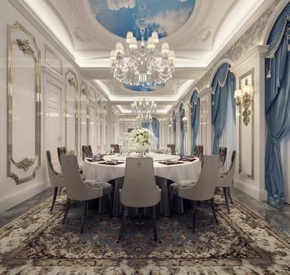 欧式餐厅, 餐桌椅