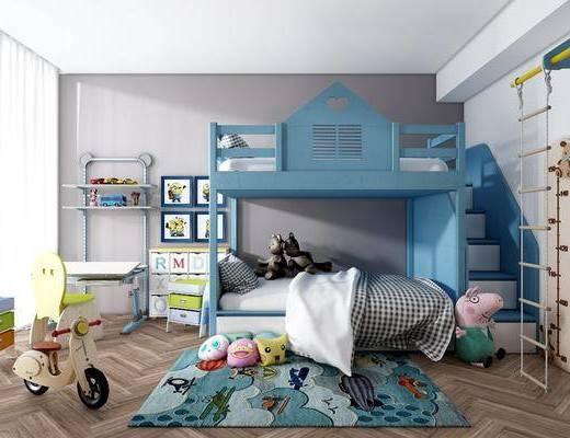 儿童房, 现代儿童房, 卧室